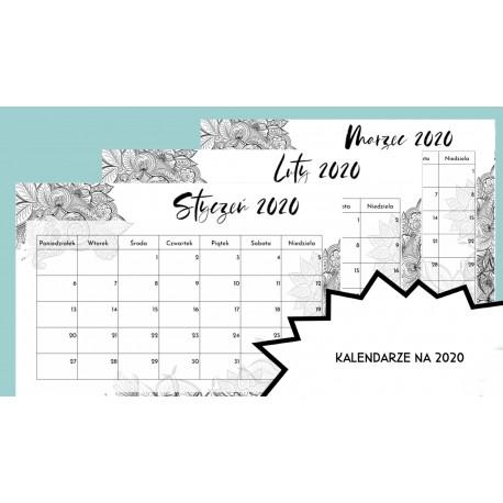 Kalendarz Świąt Nietypowych na 2020 r + Grudzień 2019 (B&W)